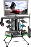 Atlantic - Centipede TV Stand for Flat-Panel TVs Up to 37