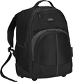 Targus - Compact Rolling Laptop Backpack - Black