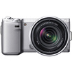 Sony - NEX-5N 16.1-Megapixel Digital Compact System Camera with 18-55mm Lens - Silver