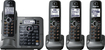 Panasonic - Link-to-cell Bluetooth Cellular Convergence Solution with 4 Handsets - Metallic Gray