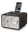 Crosley - Desktop Clock Radio - Stereo - Apple Dock Interface - Proprietary Interface - Black