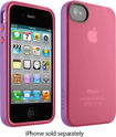 Belkin - Grip Candy Case for Apple® iPhone® 4 and iPhone 4S - Pink/Purple - Pink/Purple