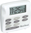 West Bend - Electronic Triple Timer/Clock - White/Gray