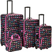 Fox - 4 Piece Butterfly Luggage Set F108 - Multicolor
