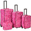 Fox - 4 Piece Pearl Luggage Set F108 - Pink