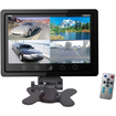 Pyle - 7'' Quad TFT/LCD Video Monitor w/Headrest Shroud RCA Connectors - Black - Black