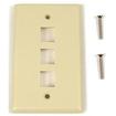 Belkin - 3 Socket Keystone Network Faceplate - Ivory