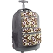 JWorld - SUNSET Travel/Luggage Case (Rolling Backpack) for Travel Essential - Coffee