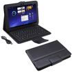AGPtek - Bluetooth Keyboard Case with Stand for Samsung Galaxy Tab 10.1 Tablet - Black