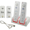 eForCity - DUAL CHARGE DOCKING STATION and 2 BATTERY Bundle For Wii WIIMOTE