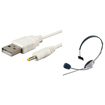 eForCity - USB Charger Cable and Headset w/MIC Bundle For XBOX 360 Wireless Deal