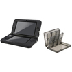eForCity - Jelly Silicone Case and Game Card Case 24-in-1 Bundle For Nintendo 3DS XL - Smoke/Black