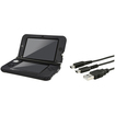 eForCity - Jelly Silicone Case and USB Charging Cable with 3 Connectors Bundle For Nintendo 3DS XL - Black