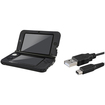 eForCity - Jelly Silicone Case and USB Charging Cable Bundle For Nintendo 3DS XL - Black