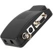 AGPtek - BNC S-Video VGA to VGA Converter for PC Laptop DVD DVR LCD CCTV Camera 1024x768 - Black