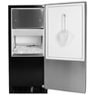 "Marvel - 15"" Built-in Ice Maker with 30 lbs. Ice Storage, 35 lbs. Daily Production, Full Auto Defrost - Black"