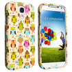 eForCity - Snap on Rubber Case for Samsung Galaxy S4 i9500 - Fancy Owls