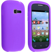 eForCity - Silicone Skin Case for Samsung Galaxy Centura S738C - Purple - Purple