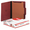 Universal - Pressboard Classification Folder, Letter, Four-Section, 10/Box