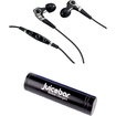 Denon - AH-C400 Music Maniac In-Ear Headphones Plus A JuiceBar Black Power Tube