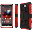Empire - Collection Tough Rugged Kickstand Case for Motorola DROID RAZR M XT907 - Black, Red - Black, Red