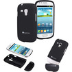 GreatShield - iSlide Slim-Fit Polycarbonate Hard Case for Samsung Galaxy S3 Mini - Black - Black