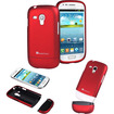 GreatShield - iSlide Slim-Fit Polycarbonate Hard Case for Samsung Galaxy S3 Mini - Red - Red