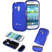 GreatShield - iSlide Slim-Fit Polycarbonate Hard Case for Samsung Galaxy S3 Mini - Blue - Blue