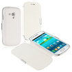 eForCity - Leather Case with Magnetic Flap Bundle For Samsung Galaxy S III mini i8190 - White