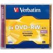 Verbatim - DVD+RW 4.7GB 4x 1pk Jewel Case