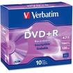 Verbatim - DVD+R 4.7GB 16x 10pk Slim Case