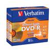 Verbatim - Archival Grade DVD-R 4.7GB 8x 5pk Jewel Case