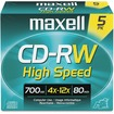 Maxell - 4x CD-RW High Speed Media