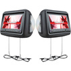 "Farenheit - HRD9GRDK 9"" LCD DVD Car Headrest Set - Dark Gray - Dark Gray"