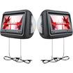 "Farenheit - HRD9GRDK 9"" LCD DVD Car Headrest Set - Dark Gray"