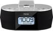 iHome - Dual Charging Stereo FM Clock Radio - Black/Silver - Black/Silver