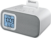 iHome - Bluetooth Dual-Alarm Clock - White/Silver