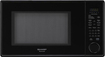 Sharp - 1.3 Cu. Ft. Mid-Size Microwave - Smooth Black