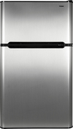 Haier - 3.3 Cu. Ft. Compact Refrigerator - Virtual Steel