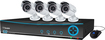 Swann - Pro-Series 9-Channel, 4-Camera Indoor/Outdoor Surveillance System