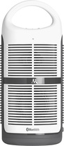 Acoustic Research - Skinit Bluetooth Portable Speaker - White/Gray