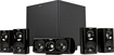 Klipsch - HD Theater 600 5.1-Channel Home Theater Speaker System with Powered Subwoofer - Black Pica Vinyl, High Gloss Black - Black Pica Vinyl, High Gloss Black
