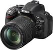 Nikon - D5200 DSLR Camera with 18-105mm VR Lens - Black