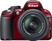 Nikon - D3100 DSLR Camera with 18-55mm VR Lens - Red