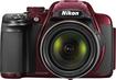 Nikon - Coolpix P520 18.1-Megapixel Digital Camera - Red