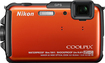 Nikon - Coolpix AW110 16.0-Megapixel Digital Camera - Orange