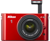 Nikon - 1 J1 10.1-Megapixel Digital Compact System Camera with 10-30mm VR Lens - Red