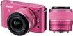 Nikon - J2 10.1-Megapixel Digital Compact System Camera with 10-30mm and 30-110mm Lenses - Pink