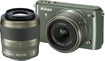 Nikon - 1 S1 Compact System Camera with 11-27.5mm and 30-110mm VR Lens - Khaki