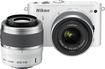 Nikon - 1 J3 Compact System Camera with 10-30mm VR and 30-110mm VR Lens - White